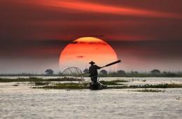 The local fisherman in Inle Myanmar